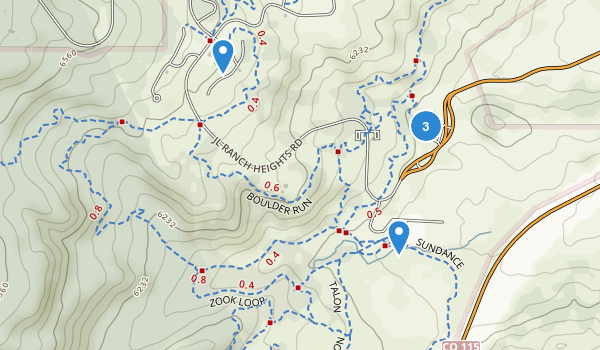 Cheyenne Mountain State Park Map