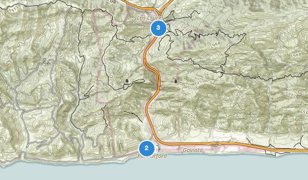 trail locations for Gaviota State Park