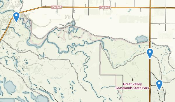 Great Valley Grasslands State Park Map