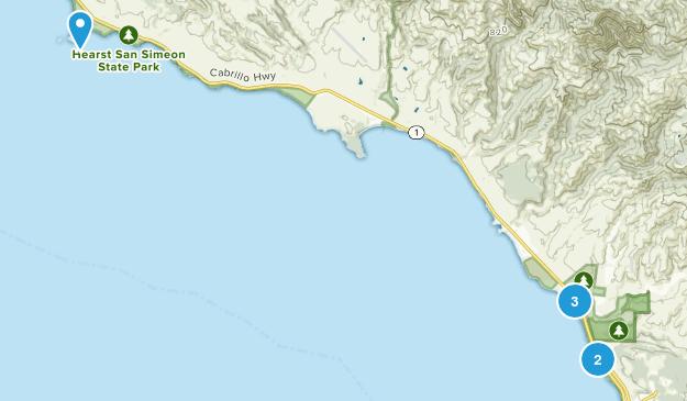 Hearst San Simeon State Park Map