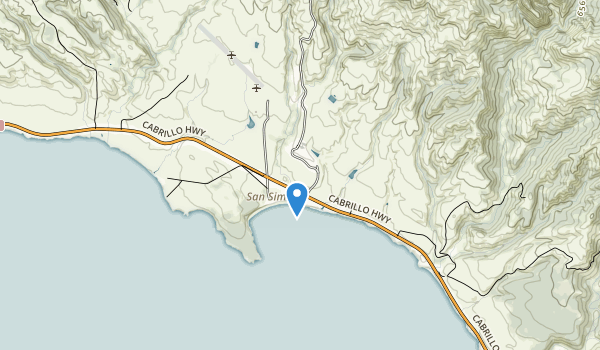 trail locations for Hearst San Simeon State Historic Monument