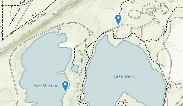 trail locations for Lathrop State Park
