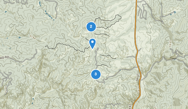 trail locations for Mueller State Park