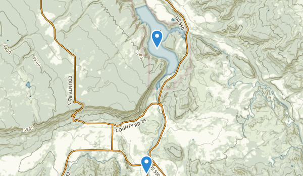 trail locations for Ridgway State Park