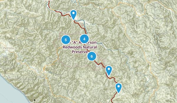 Humboldt Redwoods State Park Map