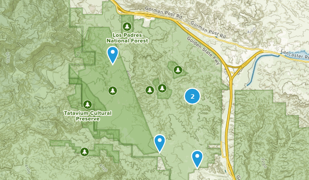 Hungry Valley State Vehicular Erholungsgebiet Map