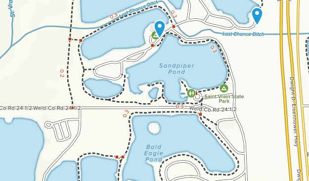 St. Vrain State Park Map
