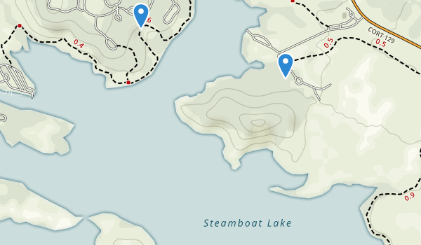 trail locations for Steamboat Lake State Park