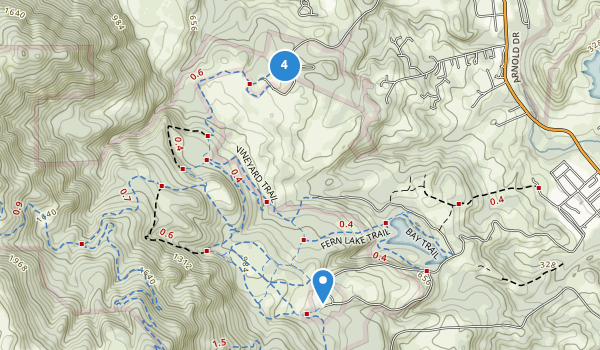 trail locations for Jack London State Historic Park