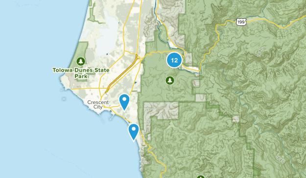 Jedediah Smith Redwood State Park Map