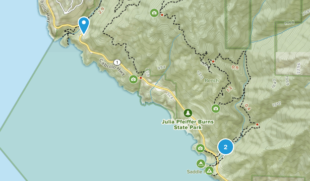 Julia Pfeiffer Burns State Park Map
