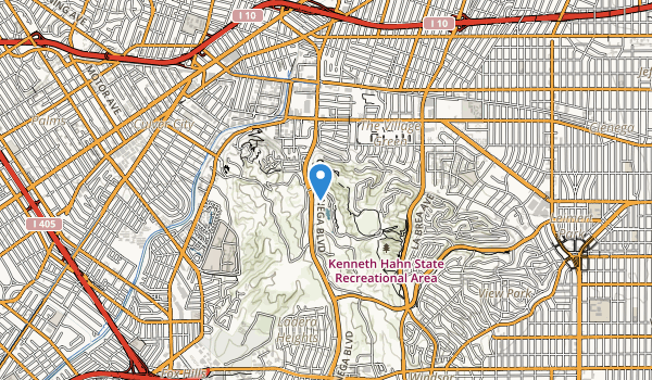 Kenneth Hahn State Recreation Area Map