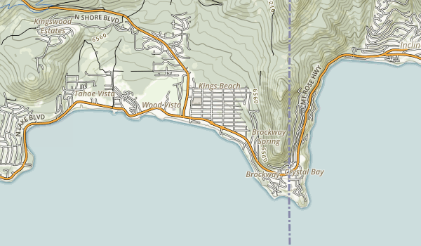 Kings Beach State Recreation Area Map