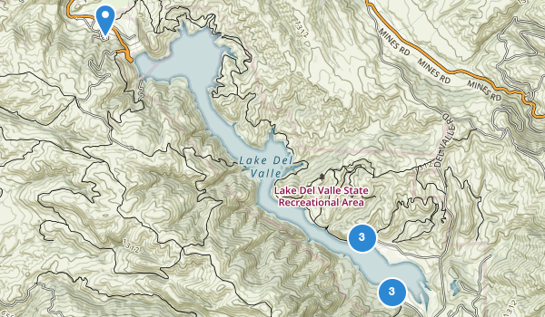 trail locations for Lake Del Valle State Recreation Area