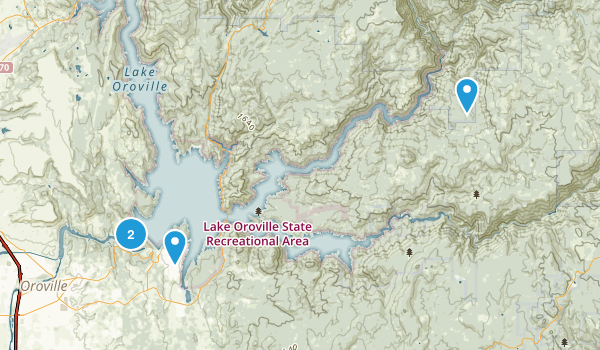 Lake Oroville State Recreation Area Map