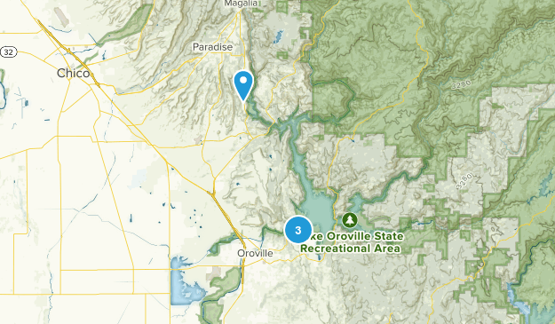 California Map Oroville.Best Trails In Lake Oroville State Recreation Area California