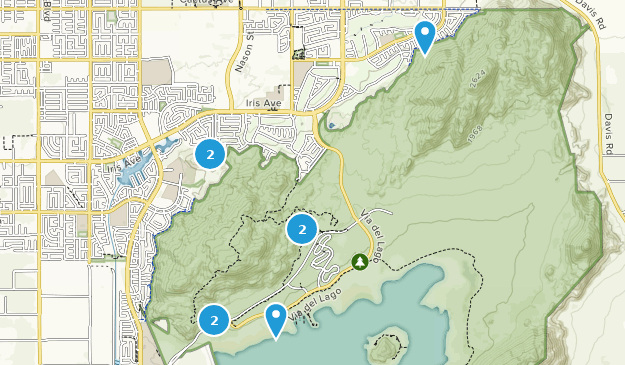 Lake Perris State Recreation Area Map