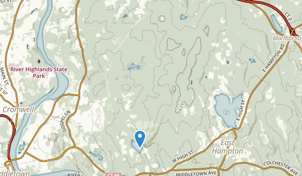trail locations for Meshomasic State Forest
