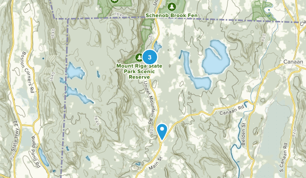 Mount Riga State Park Map