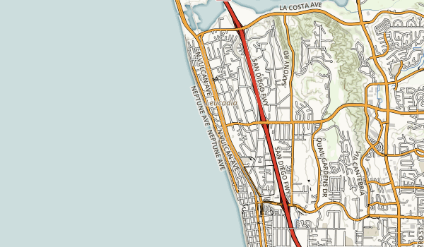 Leucadia State Beach Map