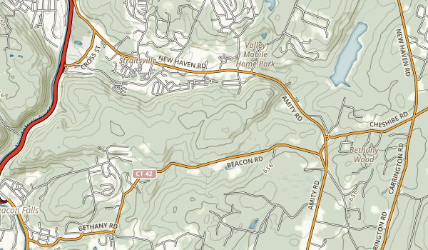 Naugatuck State Forest East and West Blocks Map