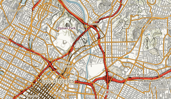 Los Angeles State Historic Park Map