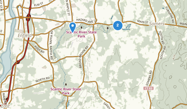 trail locations for Scantic River State Park