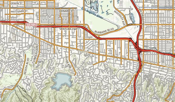Los Encinos State Historic Park Map