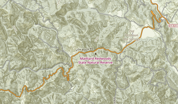 Mailliard Redwoods State Natural Reserve Map