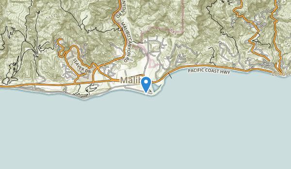 trail locations for Malibu Lagoon State Beach