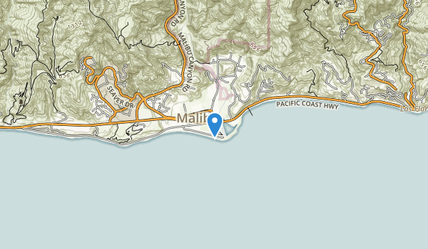 trail locations for Malibu Lagoon State Beach