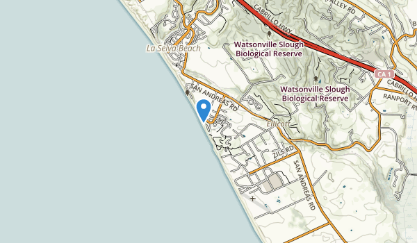trail locations for Manresa State Beach