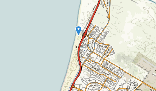 Marina State Beach Map