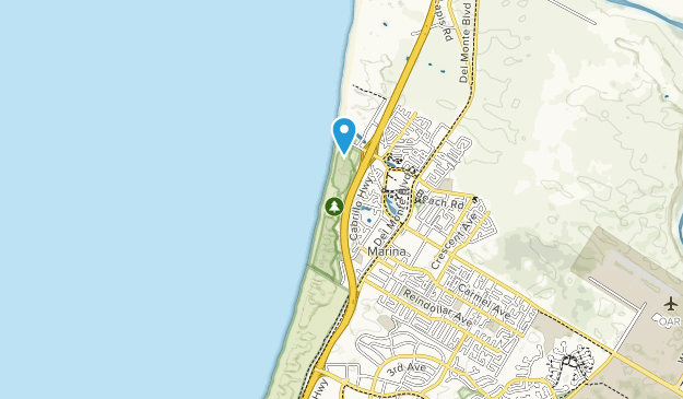 Marina State Beach Map