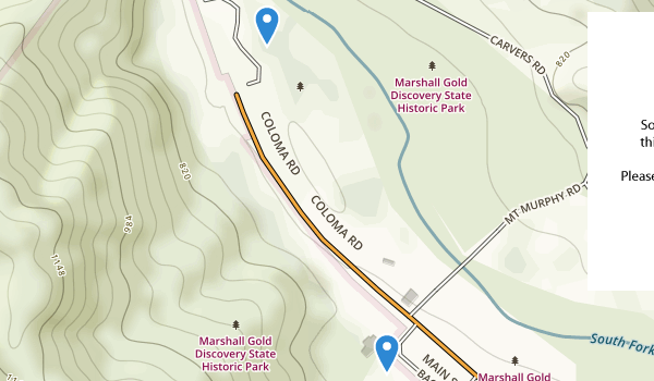 Marshall Gold Discovery State Historic Park Map