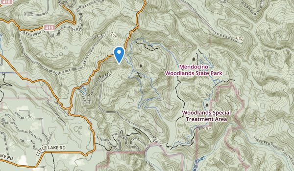 Mendocino Woodlands State Park Map