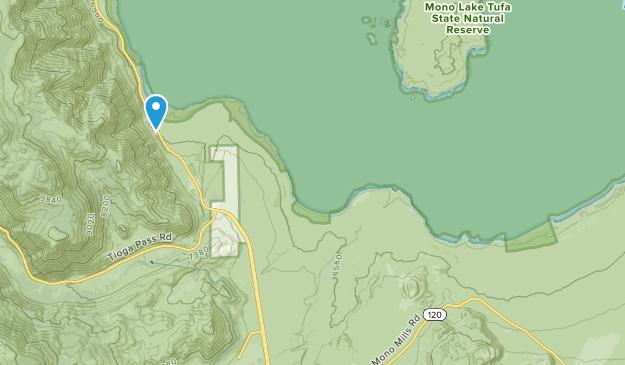 Mono Lake Tufa State Natural Reserve Map