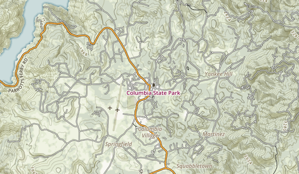 Columbia State Historic Park Map