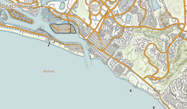 Corona Del Mar State Beach Map