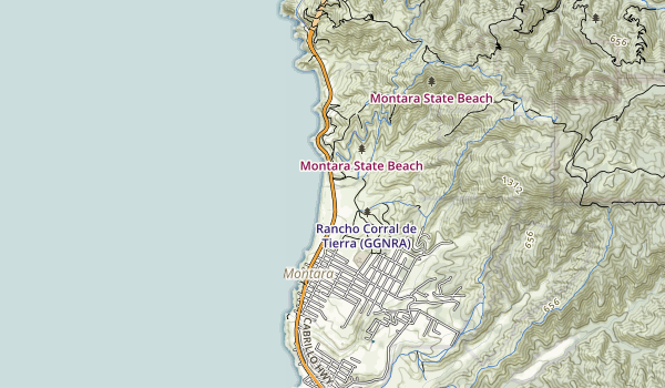 trail locations for Montara State Beach