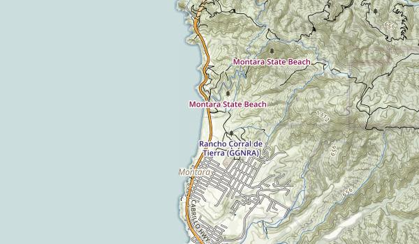 Montara State Beach Map