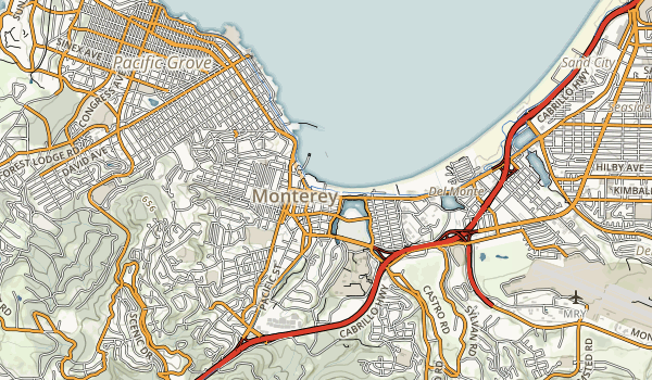 Monterey State Beach Map
