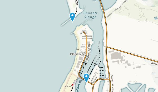 Moss Landing State Beach Map