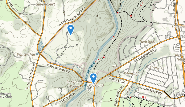 trail locations for Brandywine Creek State Park