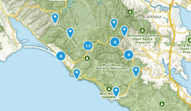 Mount Tamalpais State Park Map