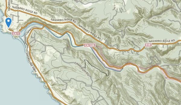 Navarro River Redwoods State Park Map