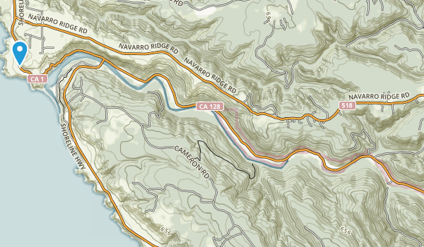Navarro River Redwoods State Park Map