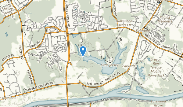 Lums Pond State Park Map