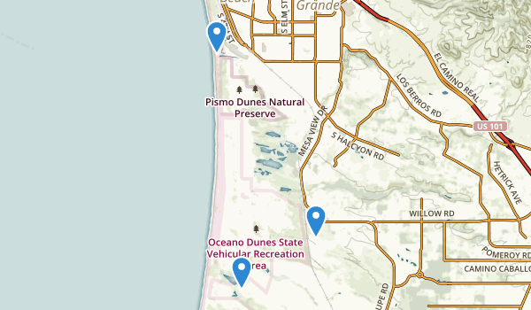 Oceano Dunes State Vehicular Recreation Area Map