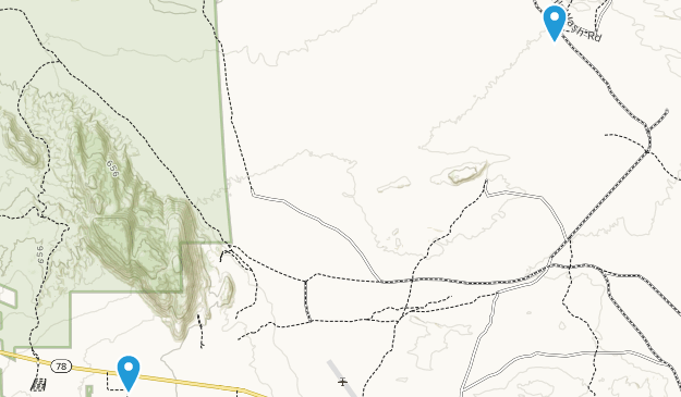 Ocotillo Wells State Vehicular Recreation Area Map